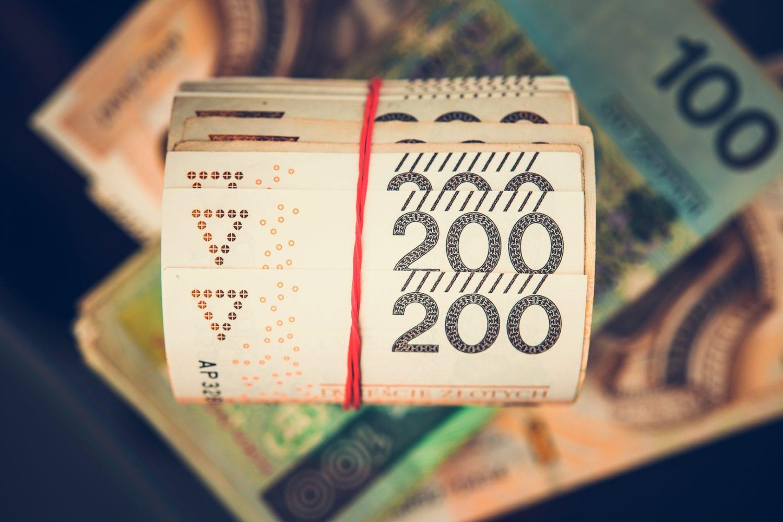 Roll of Polish Zloty Bills